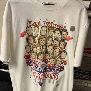 NEW 1997 Red Wings WCF Champs Mens Size Large